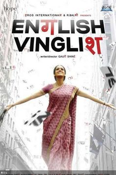 Actress Sridevi is the poster from the Bollywood movie 'English Vinglish'