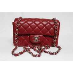 0ba07fd25f43 Chanel True Red Quilted Caviar Mini Classic Flap Bag, Sold Out in Stores -  Bags
