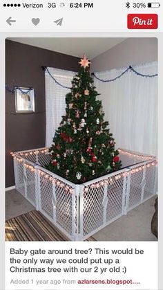 christmas baby gate around christmas tree to keep pets and children away - How To Keep Cat Away From Christmas Tree