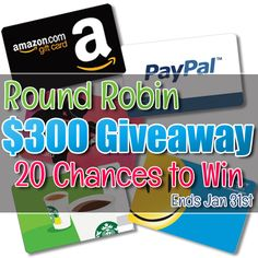 Have you entered a Round Robing Giveaway before? If not, check out how a Round Robin Giveaway works You will start here, with my blog, enter my giveaway, and then click through to visit another blogger with a giveaway. Each blogger will link...