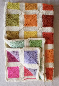Tangled Happy: Bear's Rainbow Blanket (I might try a different color pallet. Neutrals perhaps?)