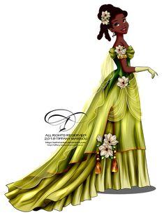 Vintage Ballgown - Tiana by selinmarsou Disney Princess Tiana, Disney Princess Fashion, All Disney Princesses, Disney Princess Pictures, Disney Princess Drawings, Princesa Disney, Disney Pictures, Disney Drawings, Disney Fan Art
