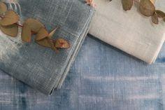 Shibori dyed linen napkins from Susurro.