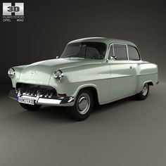 Opel Olympia Rekord 1956 3d model from humster3d.com. Price: $75