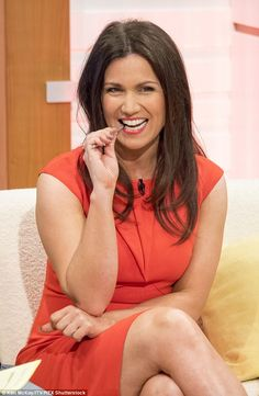 Susanna Reid, 44.  I'm not sure why she gets such a bad press, she looks wonderful here. No obvious Botox (check out that forehead) or cheek fillers, just a natural beauty.