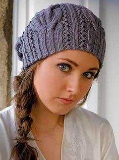 Cap in fantasy cable pattern Size: cm head circumference knitting-instructions . Cap in fantasy cable pattern Size: cm head circumference knitting-instructions . Easy Knitting, Loom Knitting, Knitting Patterns Free, Knit Patterns, Vogue Knitting, Knitted Poncho, Knitted Hats, Knit Crochet, Crochet Hats