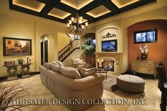 Ferretti - Mediterranean Home Plans - Home Plan Styles - Sater Design Collection Plans