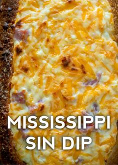 Mississippi Sin Dip - - Want to know which dish we'll be bringing to every potluck and game day get-together this fall? This Mississippi sin dip! Not only is this dip addictively good, it's also suuuper portable, which is obvious. Appetizer Dips, Yummy Appetizers, Appetizers For Party, Appetizer Recipes, Snack Recipes, Cooking Recipes, Healthy Recipes, Delicious Recipes, Chip Dip Recipes