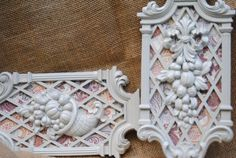 Set of Shabby Chic Wall decor by RecycleDesign1971 on Etsy, $27.00
