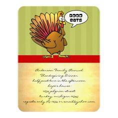 funny turkey thanksgiving dinner invitation funny turkey dinner