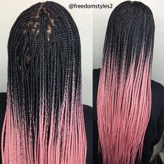 43 Cool Blonde Box Braids Hairstyles to Try - Hairstyles Trends Blonde Box Braids, Short Box Braids, Black Girl Braids, Braids For Black Hair, Pink Box Braids, Braids Easy, Girls Braids, Box Braids Hairstyles, Girl Hairstyles