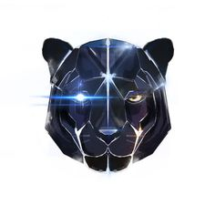 geometric panther tattoo - Google Search