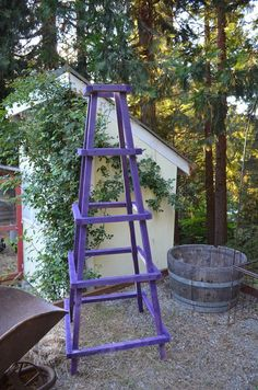 I love garden obelisks but they are so expensive, I came up with an inexpensive DIY solution to build your own easy garden obelisk, come by and see!