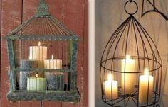Reciclaje y jaulas de pájaros ideas decorativas!