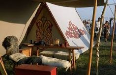 viking tent carving - Google Search Love the designs on the tent doors and sides
