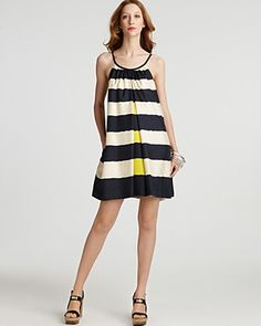 stripes with a pop of yellow-and, wait for it...pockets!
