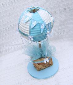 Hot Air Balloon Cake Topper in blu-chiaro / / Hot di CraftedByYudi