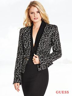 GUESS by Marciano Women's Trullie Leopard-Print Jacket