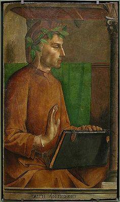 Joos van Gent (c.1410-c.1480) : Portrait of Dante Alighieri, c. 1477. Musée de Louvre, Paris.