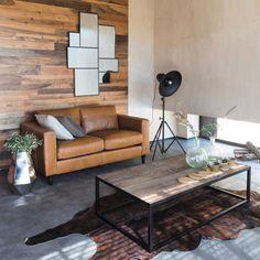Table basse en métal et bois L 130 cm Aspen | Maisons du Monde