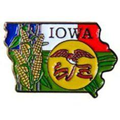 """Iowa Map Pin 1"""" by FindingKing. $8.50. This is a new Iowa Map Pin 1"""""""