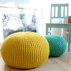 A simple pattern for a knitted stool. (via Pickles)