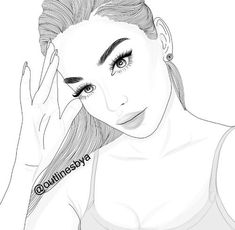 Find high-quality images, photos, and animated GIFS with Bing Images Outline Drawings, Art Drawings, Pencil Art, Pencil Drawings, Tumblr Girl Drawing, Girl Outlines, Tumblr Outline, Dibujos Tumblr A Color, Drawings Pinterest