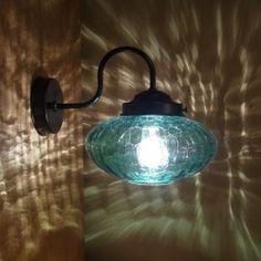 画像1: ミカン型ブラケットライト ヒビグリーン