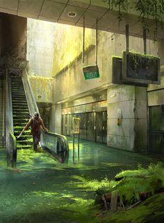 Abandoned Station - Photobash by sandara.deviantart.com on @deviantART