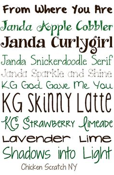 Kimberly Genswein Fonts - free for personal use
