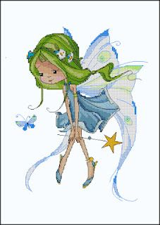 FEECHKI (pictures for decoupage) - Decoupage - Country Mom Image Deco, Cross Stitch Fairy, Illustration Art, Illustrations, Fairy Art, Faeries, Cross Stitching, Cute Art, Cross Stitch Patterns