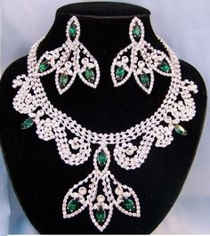 Divine Divas Pageant Jewelry Necklace and Earrings Set XI
