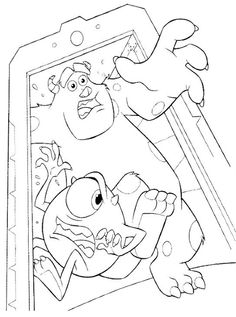 coloring page Monsters University! free printables | Baby Stuff ...