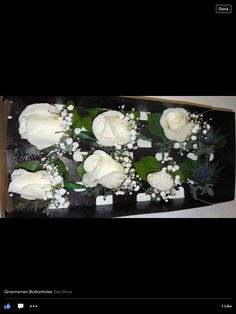 Men's buttonholes from karen @ finesse floral designs