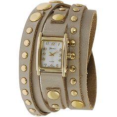 Geneva Platinum Ladies' Studded Wrap Around Watch