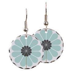 Mint Flower earrings #mint #flower