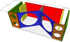 12 Inch Subwoofer Box, Car Audio Battery, Audio Box, Bass, Speaker Box Design, Speaker Plans, Loudspeaker, Wood Projects, Techno