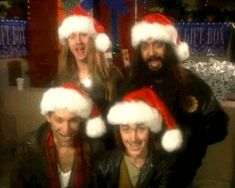 A Seattle grunge Christmas: Jerry Cantrell, Kim Thayil, Mike McCready and their 'non-famous friend, Tommy'. Layne Staley 2002, Mike Inez, Mike Starr, Jerry Cantrell, Some Jokes, Alice In Chains, Eddie Vedder, Chris Cornell, Pearl Jam