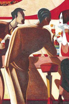 """Aperol """"Bar"""" Poster, by Lorenzo Mattotti"""