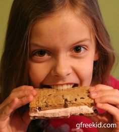 """Peppermint Stick Ice Cream Sandwiches from """"g-free kid"""""""