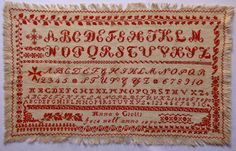 Antique Cross Stitch Sampler
