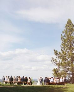"See the ""The Ceremony"" in our Jamie and Ryan's Glamping-Style Montana Wedding gallery"