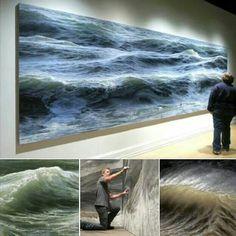 Ran Ortner, sea paintings. Awesomeness.