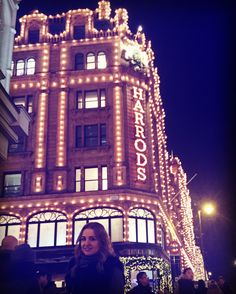London Christmas lights Harrods London