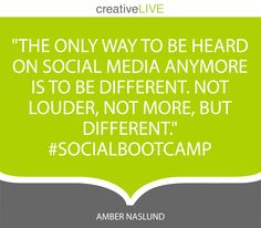 Make it fun, be extraordinary. Quote by @Amber Naslund during #socialbootcamp on @creativeLIVE. #businesstips #socialstrategy #socialmedia #marketingtools