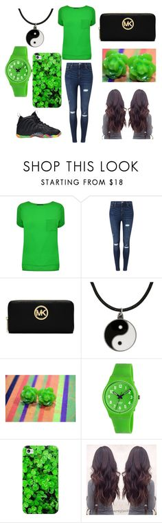 """""""ST. PATRICK DAY"""" by keke554 ❤ liked on Polyvore featuring French Connection, Miss Selfridge, MICHAEL Michael Kors, Carolina Glamour Collection, Swatch and Casetify"""