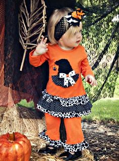 Girls Halloween Outfit Fall 201212 Months to 2TNow in Stock!