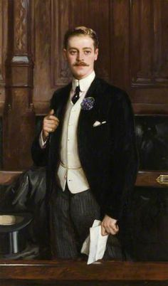 Portrait of The Honourable Thomas Charles Reginald Agar-Robartes (1880–1915), MP, 1907 by Richard Jack (1856-1952). Agar-Robartes was a British Liberal politician, who was wounded in the Battle of Loos on 28 September and killed by a sniper on 30 September 1915 after rescuing a wounded comrade under heavy fire for which he was recommended for the Victoria Cross.