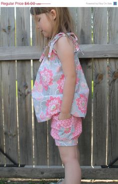 Bubble Shorts  PDF Sewing Pattern Instant by aivilocharlotte 12m-6y