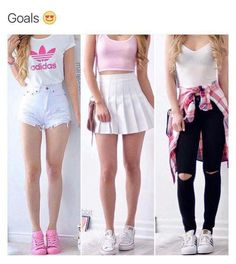 ❤ 1 you are cute 2 you are the best girl 3 you are the fashionable girl ! Cute Teen Outfits, Teenage Outfits, Teen Fashion Outfits, Cute Summer Outfits, Outfits For Teens, Chic Outfits, Trendy Outfits, Dress Outfits, Fall Outfits